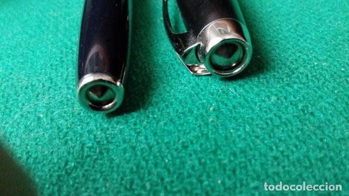 Plumas estilográficas antiguas: Parker 100 Cobalt Black ST 18k -750- 2004 - Foto 8 - 98943519