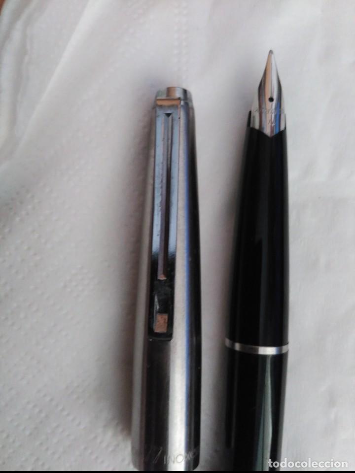 Plumas estilográficas antiguas: inoxcrom 77 acero y negro - Foto 3 - 99232539