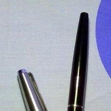 Plumas estilográficas antiguas: PLUMA INOXCROM 77 NEGRO Y ACERO. Lote 99535911