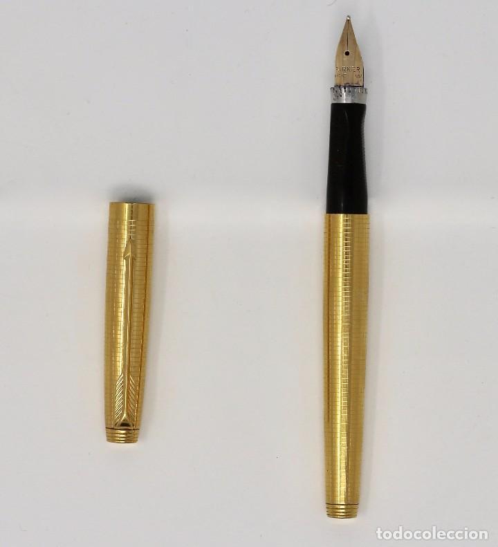 Plumas estilográficas antiguas: ELEGANTE PLUMA PARKER 75. 14 K. - Foto 3 - 100320567