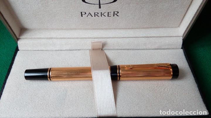 PARKER DUOFOLD GODRON ORO 18K (Plumas Estilográficas, Bolígrafos y Plumillas - Plumas)