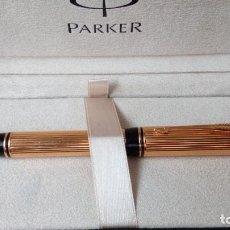 Plumas estilográficas antiguas: PARKER DUOFOLD GODRON ORO 18K . Lote 101152939