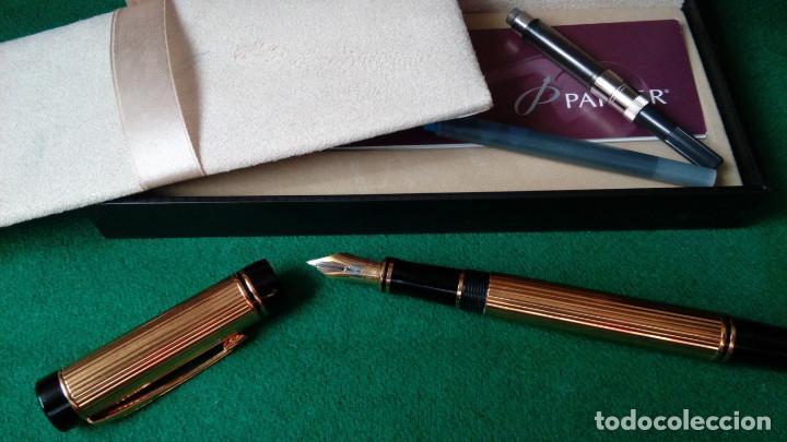 Plumas estilográficas antiguas: Parker Duofold Godron oro 18k - Foto 2 - 101152939
