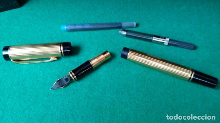 Plumas estilográficas antiguas: Parker Duofold Godron oro 18k - Foto 3 - 101152939
