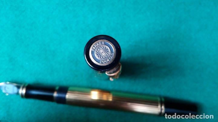 Plumas estilográficas antiguas: Parker Duofold Godron oro 18k - Foto 9 - 101152939