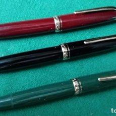 Plumas estilográficas antiguas: MONTBLANC 254 , NEGRA, GRANATE Y VERDE. MONT BLANC. Lote 104056035