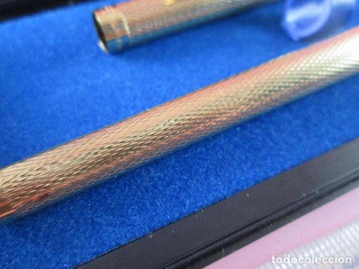 Plumas estilográficas antiguas: 5824-PLUMA ESTILOGRAFICA-USA-SHEAFFER TARGA BARLEYCOM CLASSIC ORO-PAPEL-VER FOTOS - Foto 5 - 31541708