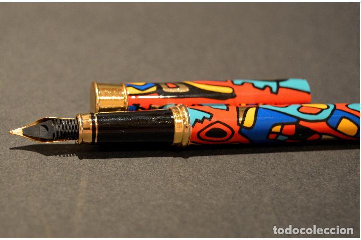 Plumas estilográficas antiguas: BONITA PLUMA ESTILOGRAFICA DISEÑO NUEVA SIN USO - Foto 7 - 104533679
