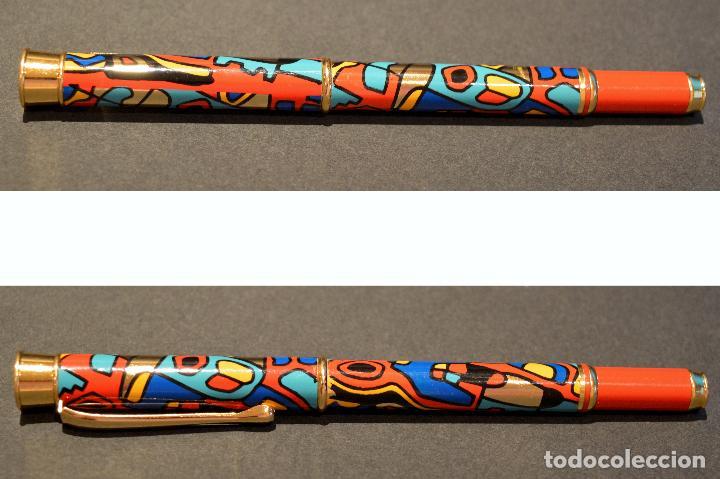 Plumas estilográficas antiguas: BONITA PLUMA ESTILOGRAFICA DISEÑO NUEVA SIN USO - Foto 11 - 104533679