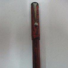 Plumas estilográficas antiguas: ANTIGUA PLUMA ESTILOGRÁFICA - ART DECO - RODOR, MADE IN ENGLAND - PLUMIN ORO 14 K - AÑOS 30. Lote 104937043
