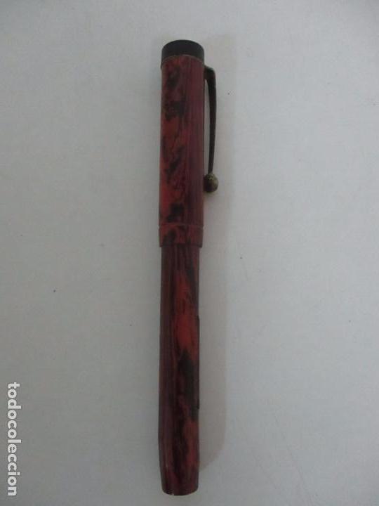 Plumas estilográficas antiguas: Antigua Pluma Estilográfica - Art Deco - Rodor, Made in England - Plumin Oro 14 K - Años 30 - Foto 2 - 104937043
