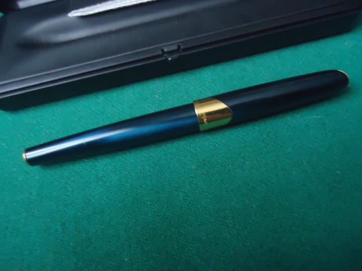 Plumas estilográficas antiguas: Parker Ellipse laca azul cobalto. Oro 18k-750- Año 2000 - Foto 6 - 106063311