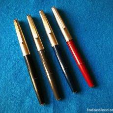 Plumas estilográficas antiguas: LOTE DE 4 PLUMAS ESTILOGRAFICAS SUPER T OLIMPIA. Lote 106560035