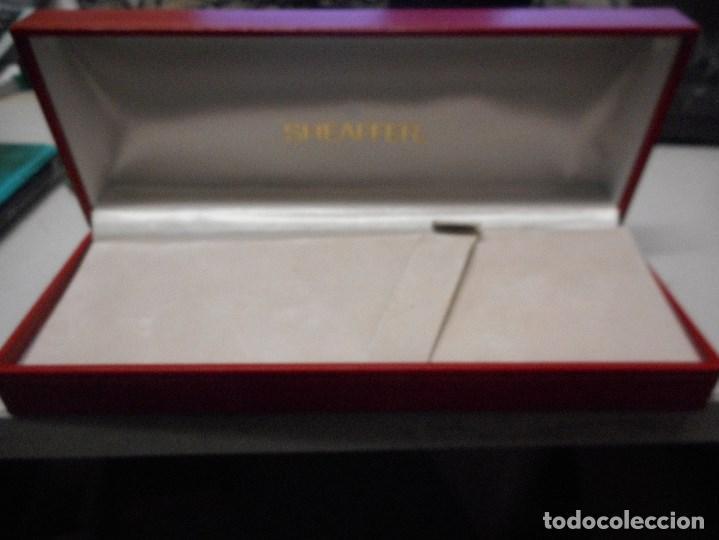 Plumas estilográficas antiguas: caja sheaffer pluma punto blanco - Foto 2 - 106645883