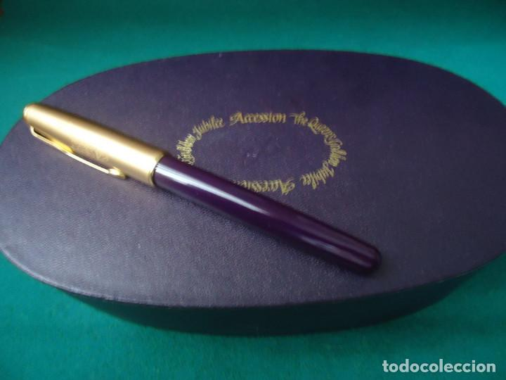 Plumas estilográficas antiguas: Parker Sonnet Accesion Jubilé Golden Queen Elizabeth II. NOS - Foto 18 - 107603587