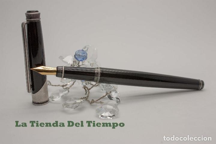 Plumas estilográficas antiguas: PLUMA ESTILOGRAFICA DE DISEÑO 1990 - Foto 3 - 109080535