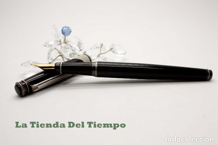 Plumas estilográficas antiguas: PLUMA ESTILOGRAFICA DE DISEÑO 1990 - Foto 4 - 109080535