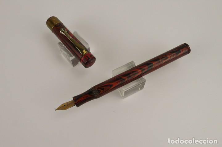 Plumas estilográficas antiguas: Sublime - Pluma estilográfica ebonita red ripple -Ca.1929 - Foto 7 - 113071915