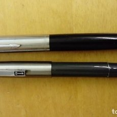 Plumas estilográficas antiguas: 2 PLUMAS ESTILOGRÁFICAS 1 SUPER T , 1 PARKER 21. Lote 114823931