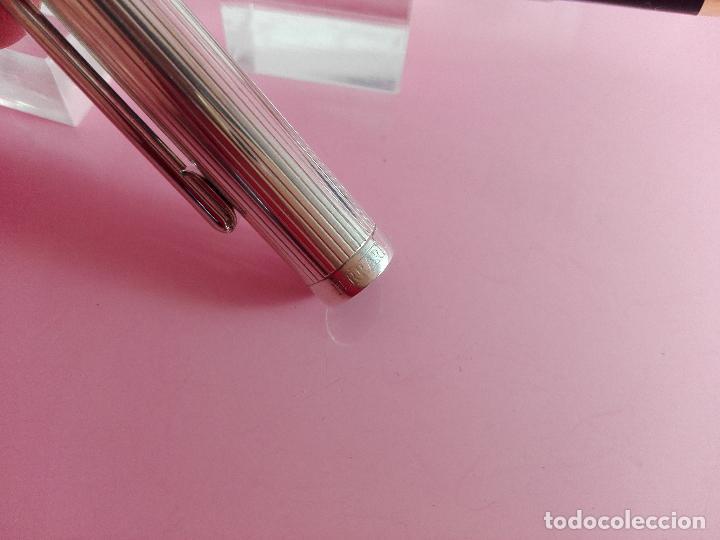 Plumas estilográficas antiguas: 1006/combo-ferrari-plata 925-pluma y bolígrafo en 1-caja de las fotos-excelente-pesado-precioso - Foto 8 - 119270095