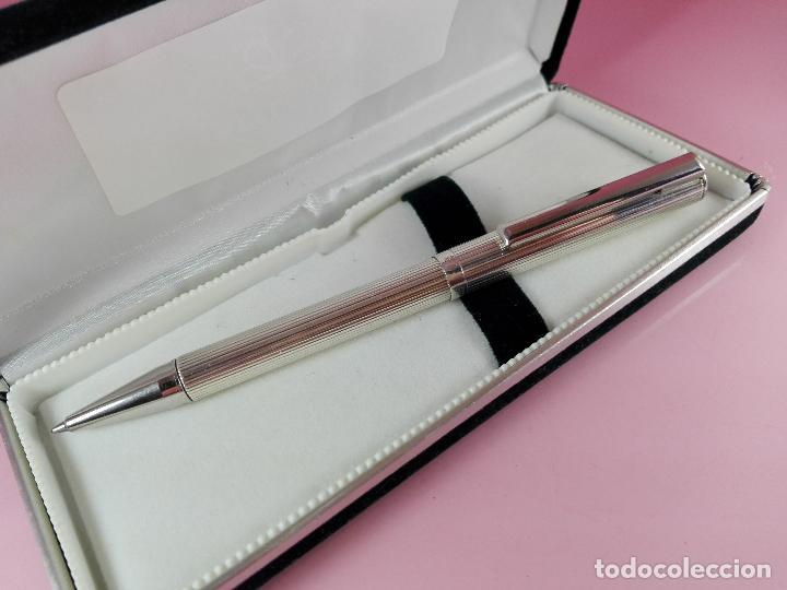 Plumas estilográficas antiguas: 1006/combo-ferrari-plata 925-pluma y bolígrafo en 1-caja de las fotos-excelente-pesado-precioso - Foto 12 - 119270095