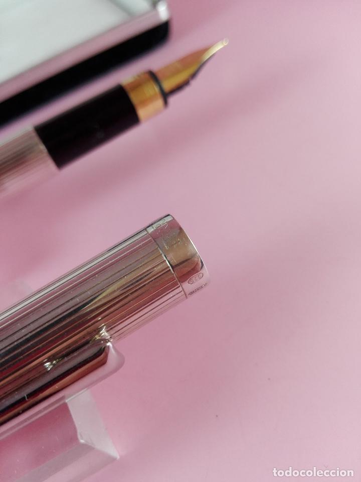 Plumas estilográficas antiguas: 1006/combo-ferrari-plata 925-pluma y bolígrafo en 1-caja de las fotos-excelente-pesado-precioso - Foto 13 - 119270095