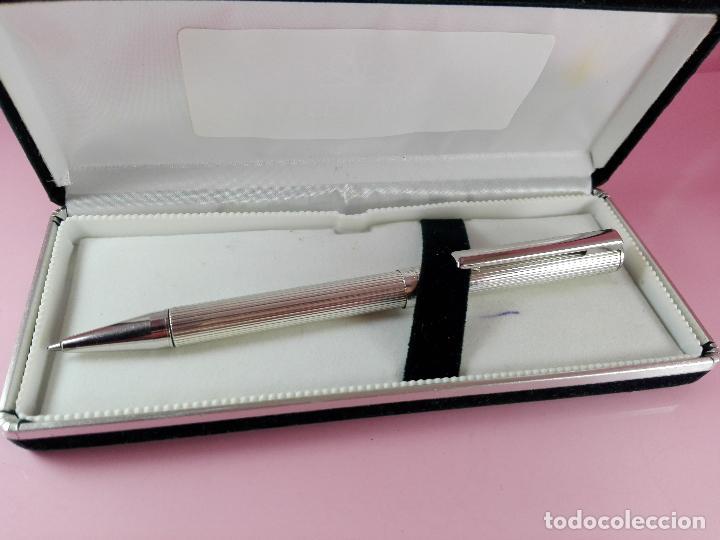Plumas estilográficas antiguas: 1006/combo-ferrari-plata 925-pluma y bolígrafo en 1-caja de las fotos-excelente-pesado-precioso - Foto 14 - 119270095