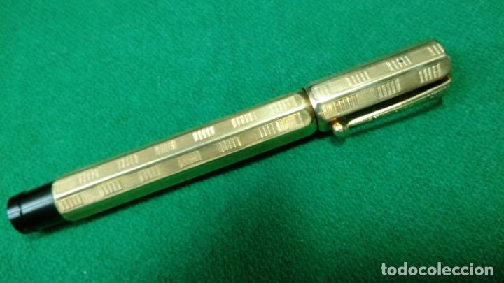 Plumas estilográficas antiguas: Fendrograph 18Kr Safety cuentagotas. Retractil - Foto 3 - 119459887
