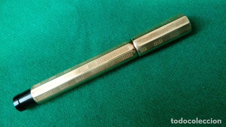 Plumas estilográficas antiguas: Fendrograph 18Kr Safety cuentagotas. Retractil - Foto 4 - 119459887