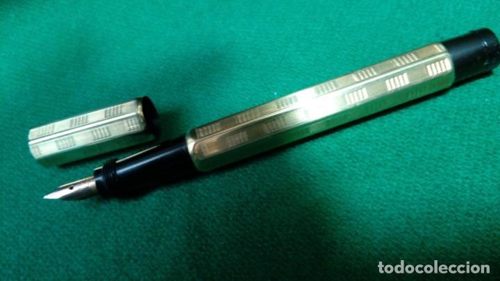 Plumas estilográficas antiguas: Fendrograph 18Kr Safety cuentagotas. Retractil - Foto 7 - 119459887