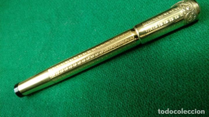 Plumas estilográficas antiguas: Antigua Cora 18kr retractil, cuentagotas. Safety - Foto 3 - 119461923