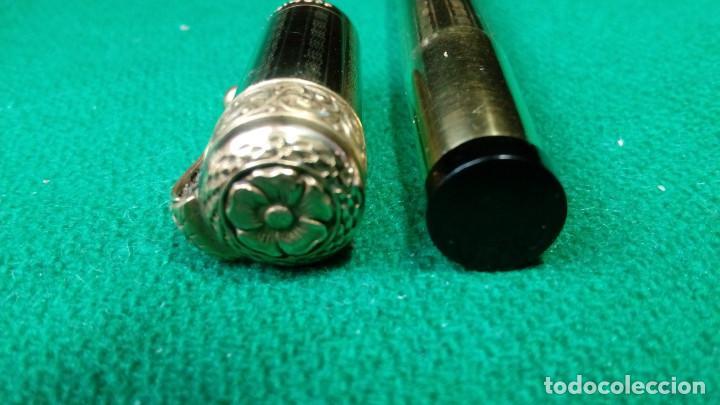 Plumas estilográficas antiguas: Antigua Cora 18kr retractil, cuentagotas. Safety - Foto 5 - 119461923