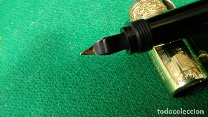 Plumas estilográficas antiguas: Antigua Cora 18kr retractil, cuentagotas. Safety - Foto 8 - 119461923