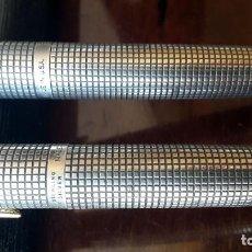Plumas estilográficas antiguas: 2 PLUMAS ESTILOGRAFICAS PARKER 75. Lote 122091075