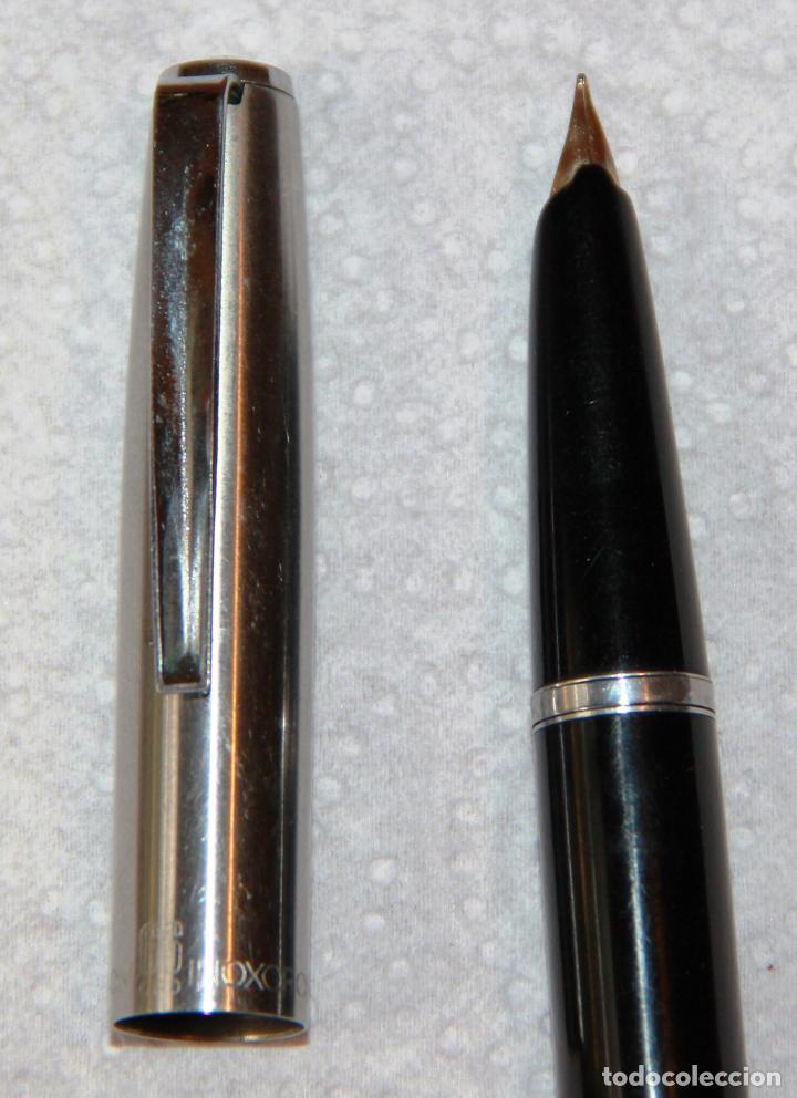 Plumas estilográficas antiguas: ANTIGUA PLUMA ESTILOGRAFICA INOXCROM 66 ORO * - Foto 7 - 124209647