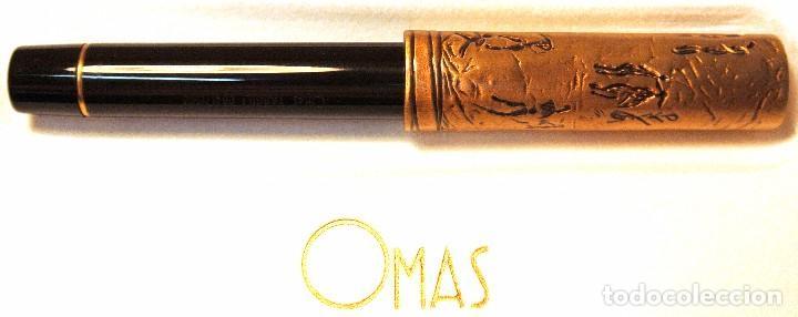 Plumas estilográficas antiguas: PLUMA ESTILOGRÁFICA OMAS TASSILI Sahara Prehistoris Painting ,EDICION LIMITADA 0641/1500, NUEVA * - Foto 5 - 126451231