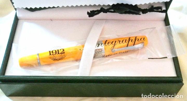 Plumas estilográficas antiguas: PLUMA ESTILOGRAFICA MONTEGRAPPA EXTRA MIYA AMARILLA , PLATA .925, ESTADO IMPECABLE, COMO NUEVA * - Foto 2 - 126454427