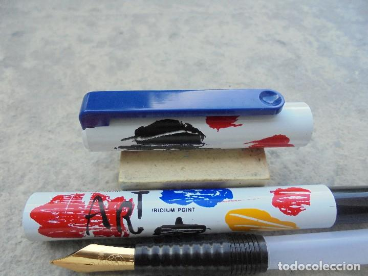 Plumas estilográficas antiguas: ESTILOGRAFICA (FOUNTAIN PEN) INOXCROM MODELO ART ES NUEVA DE LOS AÑOS 2002 - Foto 8 - 131124572