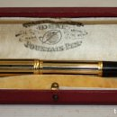 Plumas estilográficas antiguas: MUY RARA PLUMA DE ORO 18 KL WATERMANS IDEAL MOUNTAIN PEN.. Lote 131850034