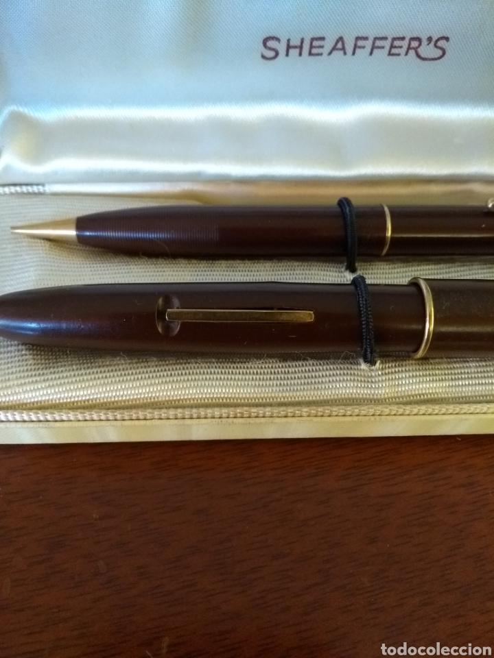 Plumas estilográficas antiguas: Juego de pluma estilográfica y portaminas Seaffers - Foto 2 - 132318205