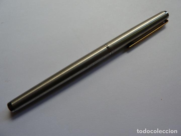 Plumas estilográficas antiguas: PLUMA ESTILOGRÁFICA INOXCROM. EN SU ESTUCHE - Foto 3 - 132368882