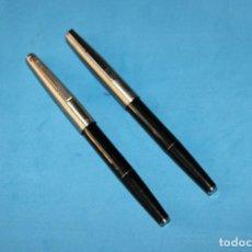 Plumas estilográficas antiguas: DOS PLUMAS ESTILOGRAFICAS SUPER T OLIMPIA. Lote 135293782