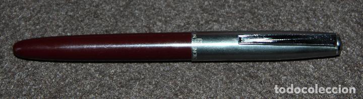 Plumas estilográficas antiguas: ANTIGUA PLUMA ESTILOGRAFICA INOXCROM 66 ORO - COLOR BURDEOS - Foto 4 - 135521698