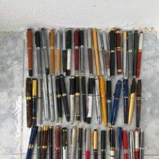 Plumas estilográficas antiguas: ¡¡¡ ATENCIÓN ¡¡¡ LOTE DE 60 PLUMAS WATERMAN, BARLEI... AÑOS 70 A LA ACTUALIDAD. VEAN FOTOS.. Lote 136264669