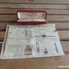 Plumas estilográficas antiguas: CAJA Y INSTRUCCIONES TINTA IDEAL AÑO 1930 DE LA PLUMA WATERMANS. Lote 153105458