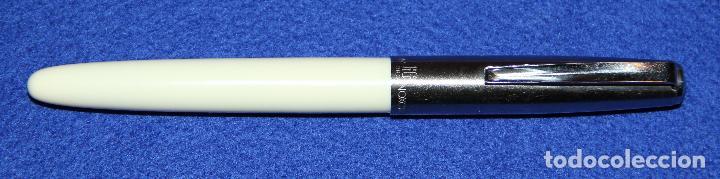Plumas estilográficas antiguas: ANTIGUA PLUMA ESTILOGRAFICA INOXCROM 66 ORO BLANCA NUEVA * - Foto 4 - 137109314