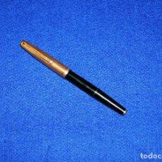 Plumas estilográficas antiguas: ANTIGUA ESTILOGRAFICA SUPER T OLIMPIA 15 CAPUCHON CHAPADO EN ORO. Lote 137380046