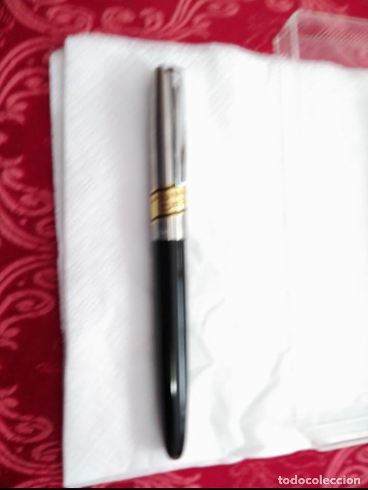 Plumas estilográficas antiguas: estilografica inoxcrom 66 nueva sin uso plumin oro - Foto 2 - 137910042
