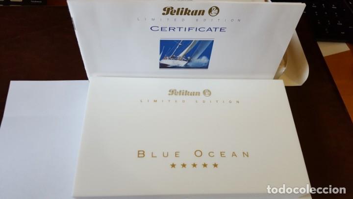 Plumas estilográficas antiguas: PLUMA PELIKAN BLUE OCEAN impecable - Foto 3 - 138705046