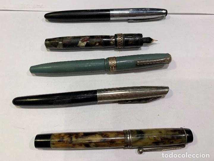 LOTE DE 5 PLUMAS ANTIGUAS (IMPERIAL -USA-, JOHSON 88 ... (SR) (Plumas Estilográficas, Bolígrafos y Plumillas - Plumas)